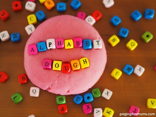 Alphabet Play Dough - a great sensory learning project.