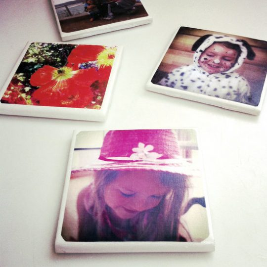 DIY Tile Photo Coaster