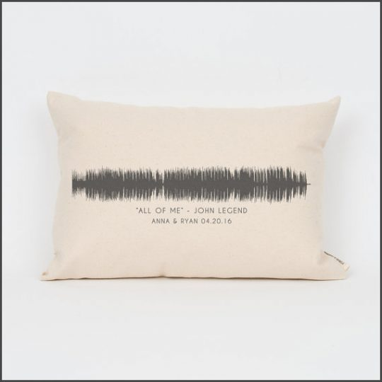 Sound Wave pillow! What a unique wedding gift.