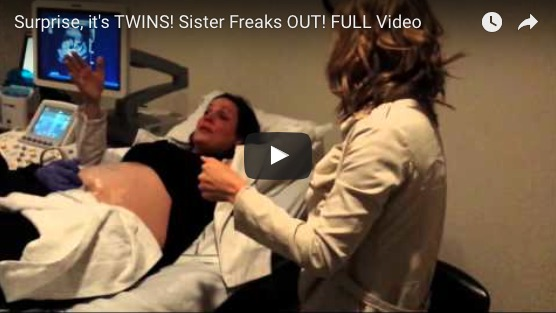 The BEST reaction to a Sonogram you will ever see! The sister FREAKS out!