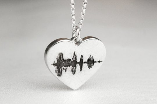 Record a special sound wave message and turn it into a lasting keepsake! What a great Mother's Day gift idea.