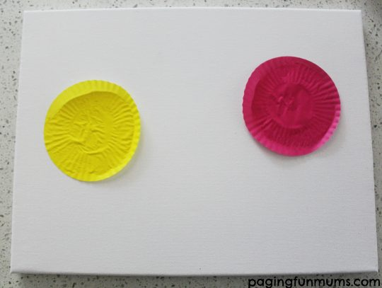 Cupcake liner canvas step 1