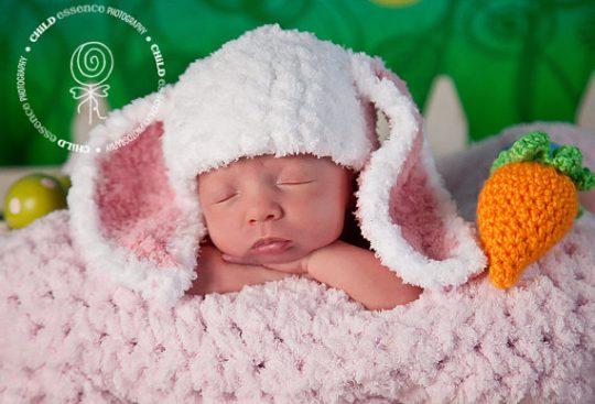 Newborn Baby Bunny Ears