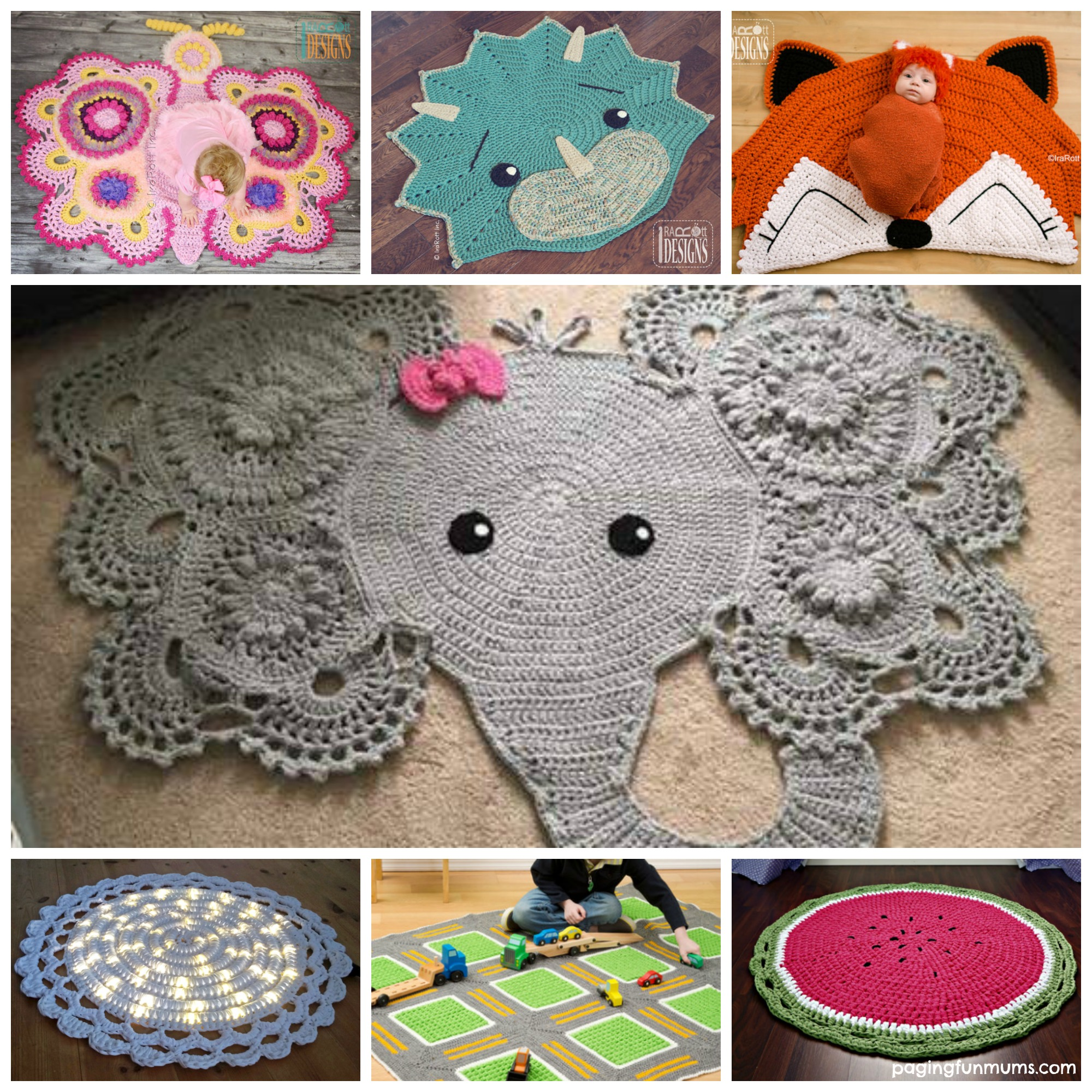 Crochet Patterns Free Rugs : Clever Crochet Throw Rugs - Paging Fun Mums