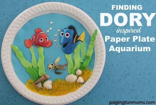 Finding Dory inspired Paper Plate Aquarium