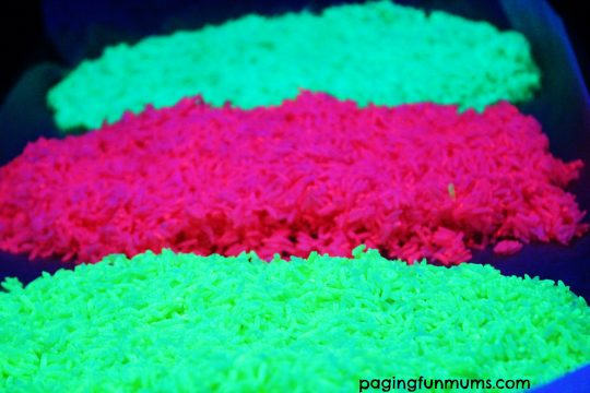 Glowing Rainbow Rice