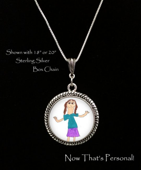 Childs artwork necklace