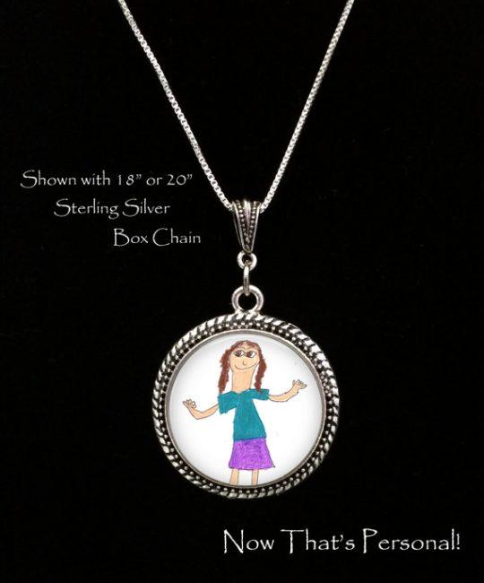 Childs artwork necklace