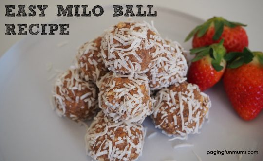 Easy Milo Ball Recipe - made by kids!