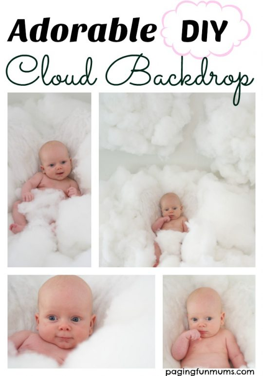Adorable DIY Cloud Backdrop