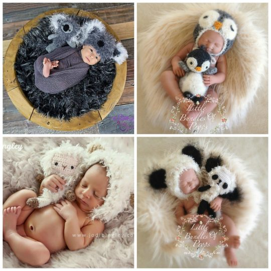 Newborn Photography Sets! A beautiful photo keepsake matched with a lifelong soft toy to keep forever!