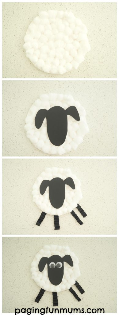 Paper Plate Sheep Craft step by step