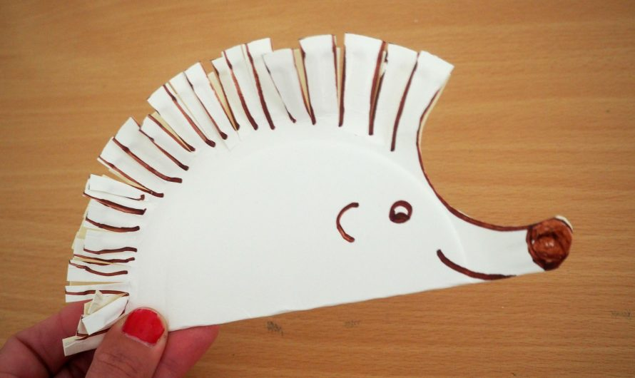 Hedgehog Paper Plate Craft