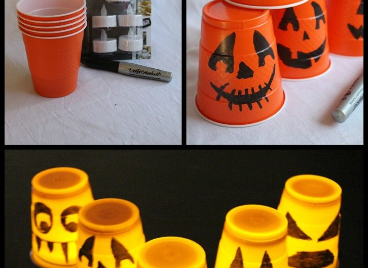 Halloween Decoration using Plastic Cups!