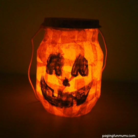 DIY Halloween Lantern with a yoghourt tub!