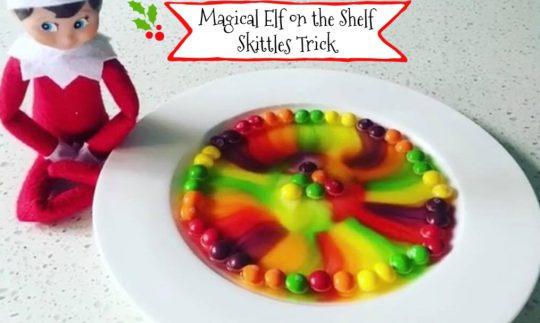 Elf on the Shelf Skittles Trick