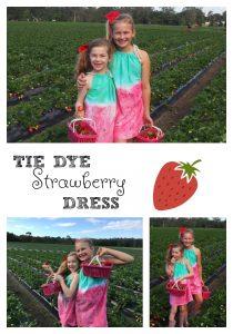 Strawberry Tie Dye Dress