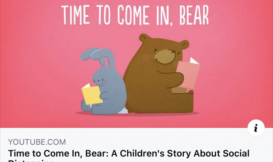 Watch this children's story about social distancing.