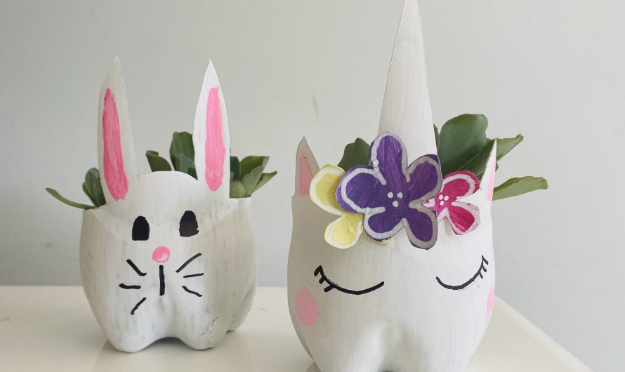 Cute DIY Planters Out of Plastic Bottles